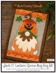 Jack-O'-Lantern Gnome Mug Rug Kit by The Whole Country Caboodle