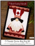 O Canada Gnome Mug Rug Kit by The Whole Country Caboodle