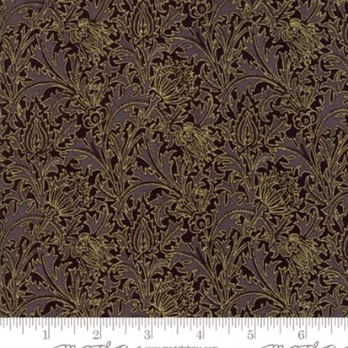 MODA FABRICS - Morris Holiday Metallic - Ebony