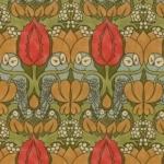 MODA FABRICS - Voysey - Owl Light Floral