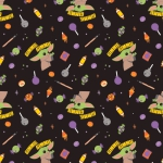 CAMELOT FABRICS - Character Halloween II - Star Wars Gimme Candy - Black