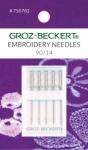 Groz-Beckert 130/705 H-E 90/14 Embroidery Needles