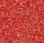 BENARTEX - Cat-i-tude Christmas - Featherly Paisley Rouge