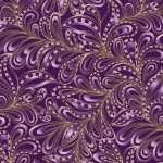 BENARTEX - Cat-i-tude Christmas - Featherly Paisley Plum