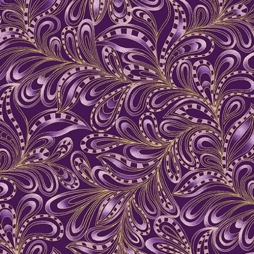 BENARTEX - Cat-i-tude Christmas - Featherly Paisley Plum