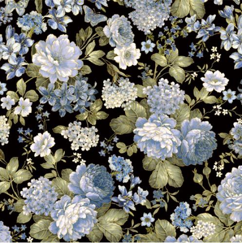 BENARTEX - Blue Symphony - Blue Symphony Garden - Black - Metallic