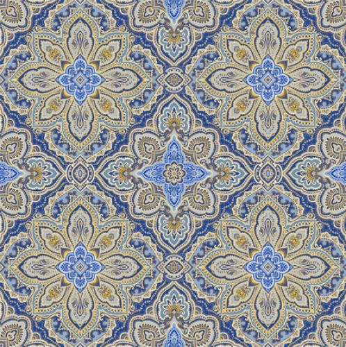 BENARTEX - Blue Symphony - Symphony Medallion - Cobalt - Metallic