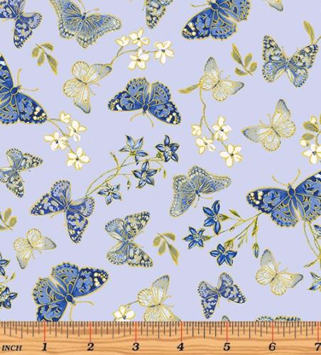 BENARTEX - Blue Symphony - Symphony Butterfly - Blue - Metallic