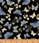 BENARTEX - Blue Symphony - Symphony Butterfly - Black - Metallic