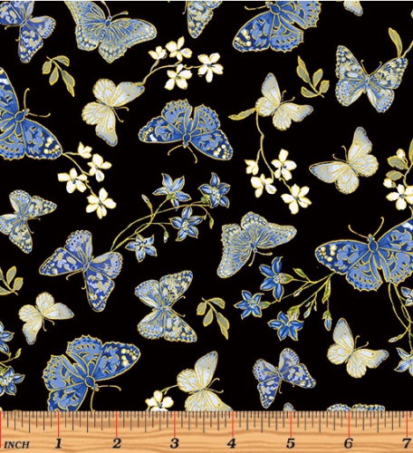 BENARTEX - Blue Symphony - Symphony Butterfly - Black - Metallic