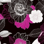 KANVAS STUDIO - Midnight Pearl - Midnight Blooms - Black Berry