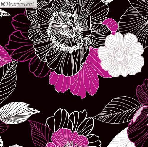 KANVAS STUDIO - Midnight Pearl - Midnight Blooms - Black Berry