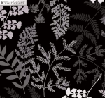 KANVAS STUDIO - Midnight Pearl - Midnight Fern - Black - Pearlized