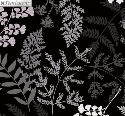 KANVAS STUDIO - Midnight Pearl - Midnight Fern - Black - Pearlized