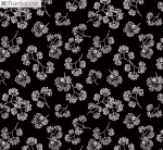 KANVAS STUDIO - Midnight Pearl - Midnight Flower Sprigs - Black - Pearlized