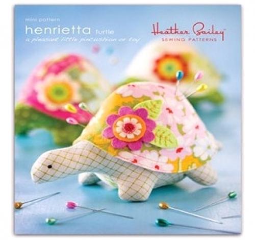 Heather Bailey Sewing Patterns: Henrietta Turtle Pincushion Pattern ...