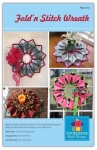 PoorHouse Quilt Designs: Fold N Stitch Wreath