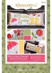 Welcome Spring Bench Pillow KimberBell Designs KD173
