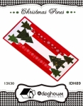 Christmas Pines Table Runner Pattern by In The Doghouse Designs