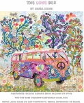 The Love Bus Collage Pattern by Laura Heine