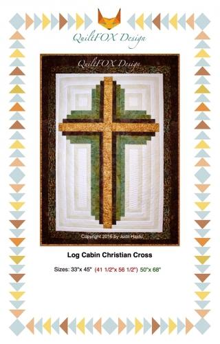 Log Cabin Christian Cross Pattern by QuiltFox