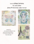 Teeny Tiny Collage Patterns Group 7 - Butterfly - Poodle - Portrait by Laura Heine