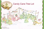 Candy Cane Tree Lot Pillow Pattern by Crab Apple Hill