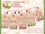 Gingerbread Village Stockings by Crabapple Hill Studios