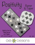 Positivity Runner & Topper Pattern by GE Designs