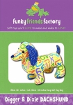 Digger & Dixie Dachshund Pattern by Funky Friends Factory