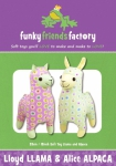Lloyd Llama & Alice Alpaca Pattern by Funky Friends Factory