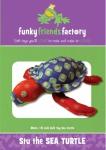Stu Sea Turtle Pattern by Funky Friends Factory