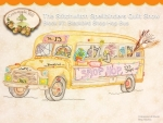 Stitchwitch Spellbinders Quilt Show 7 Blackbird Shop Hop Bus  by CrabApple Hill Studio