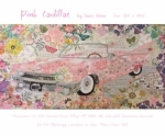 Pink Cadillac Collage by Laura Heine