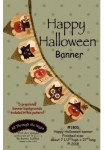 Happy Halloween Banner Pattern by All Through The Night