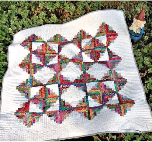 Cut Loose Press - Its A Puzzlement Log Cabin Quilt Pattern