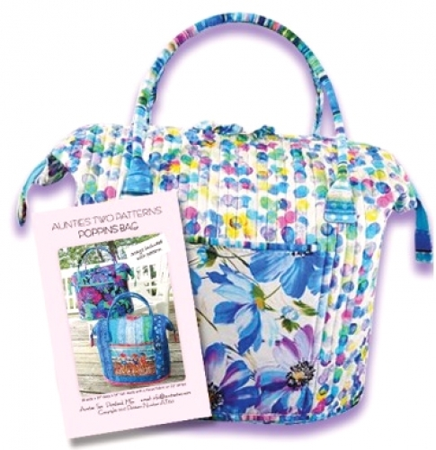 Aunties Two Patterns Poppins Bag Pattern 853102006179