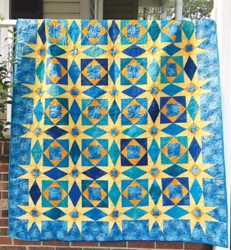 Cut Loose Press Starry Night Storm At Sea Quilt Pattern CLPJAW40 Custom Storm At Sea Quilt Pattern