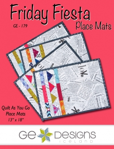 Friday Fiesta Placemats Quilt As You Go By Ge Designs 653476949337