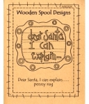 Wooden Spool Designs: Dear Santa I Can Explain...Penny Rug
