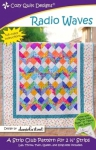Radio Waves Quilt Pattern by Cozy Quilt Designs