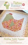 Nesting Table Topper Pattern by The Pattern Basket