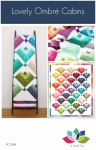 Lovely Ombre Cabins Quilt Pattern by V and Co