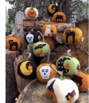 Eek! Spooks! Stuffed Pumpkins Pattern by Bareroots