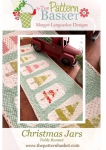 Christmas Jars Table Runner Pattern by The Pattern Basket