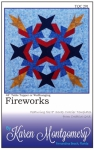Fireworks Wallhanging/Table Topper Pattern by Karen Montgomery