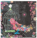 Song Bird Collage Pattern by Laura Heine