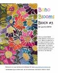 Boho Blooms Block #3 Collage Pattern by Laura Heine