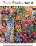 Boho Blooms Block #5 Collage Pattern by Laura Heine