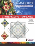 Bauble & Bling Folded Ribbon Ornament Interfacing Template 6 pack by Plum Easy Patterns